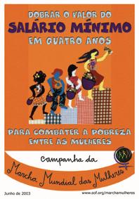 Cartaz da Campanha da MMM pela Valorização do Salário Mínimo (2003)
