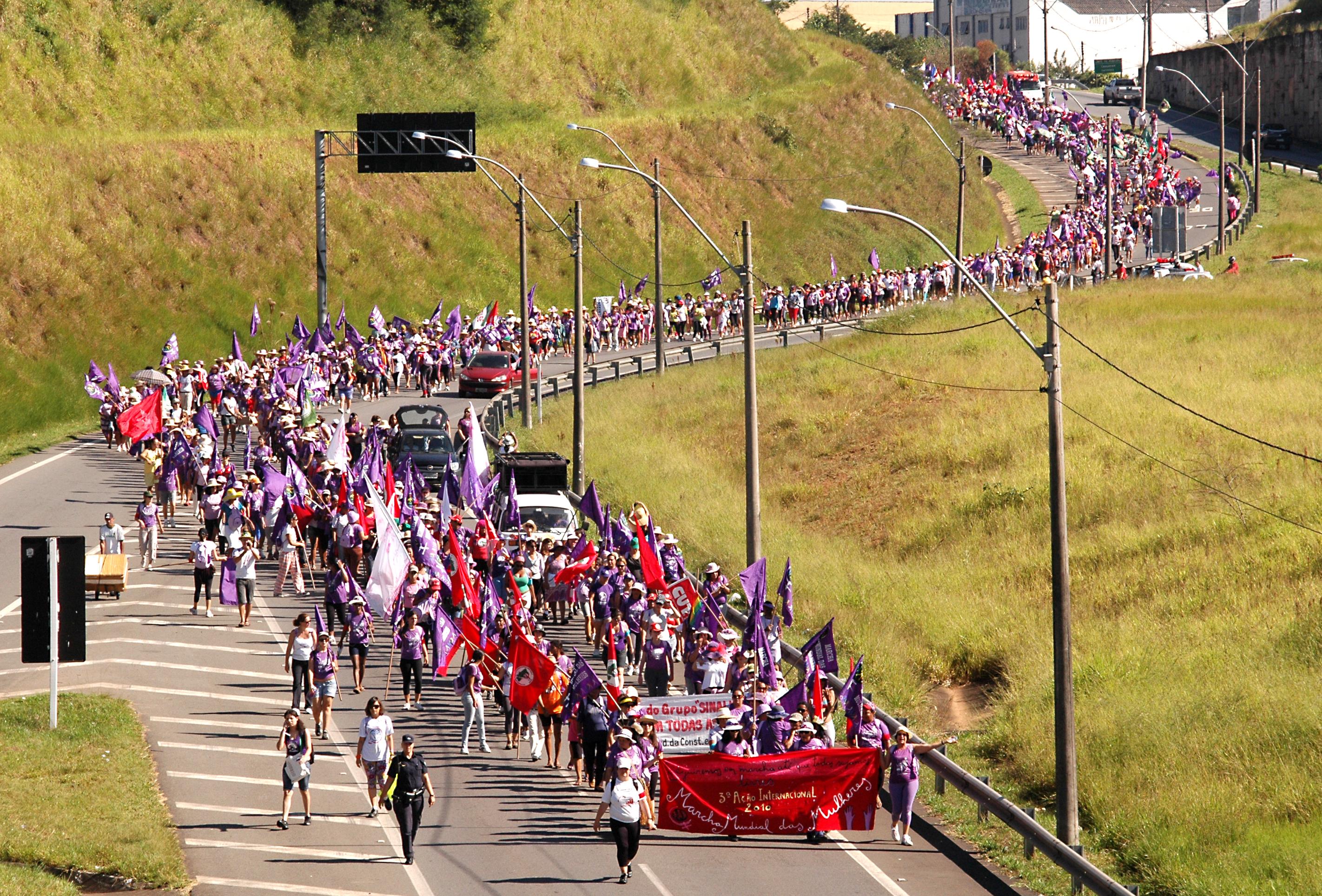 Marcha de Campinas a São Paulo, 2010. Foto: João Zinclar.