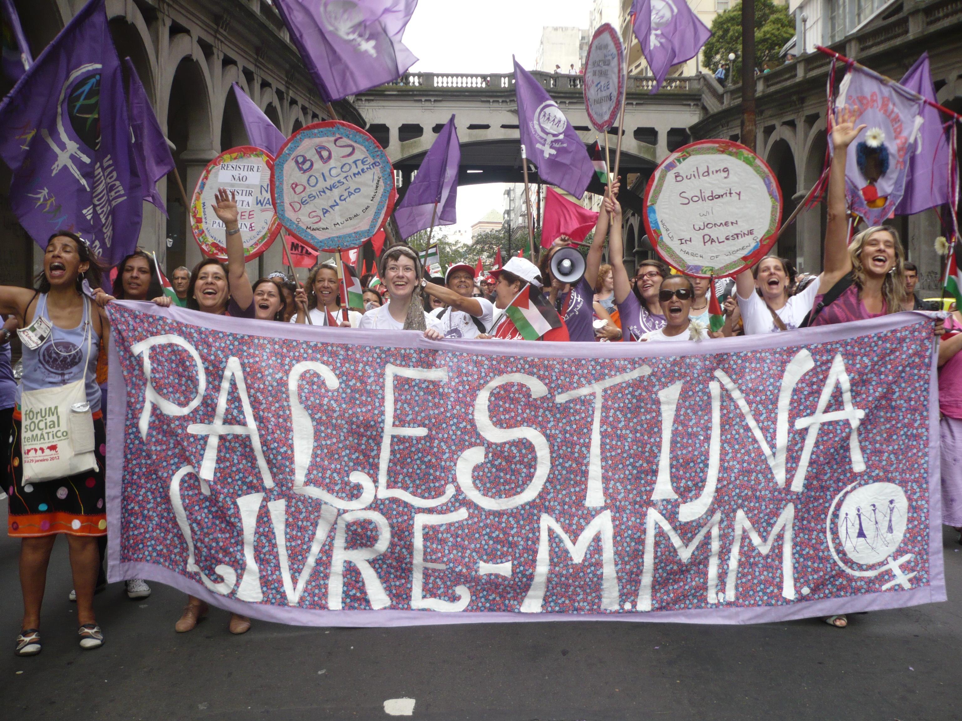 MMM no Fórum Social Mundial Palestina Livre!