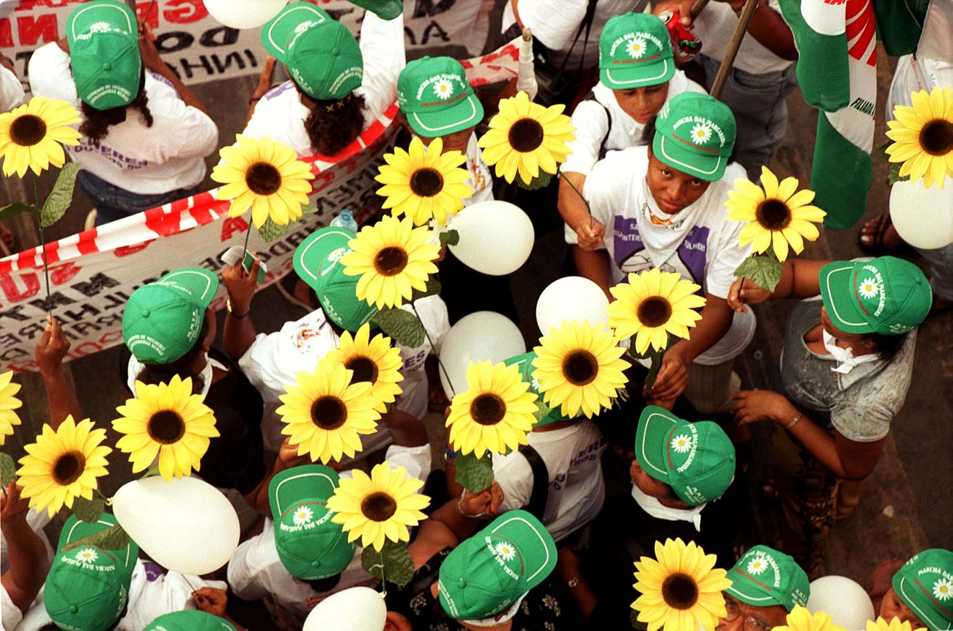 A Marcha das Margaridas reuniu 20 mil mulheres em Brasília, em agosto de 2000