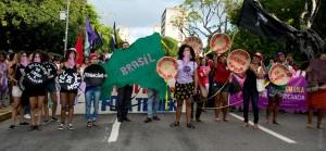 Intervenção cultural em Recife, Pernambuco.