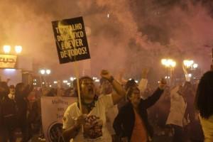 Ato em Curitiba, PR.