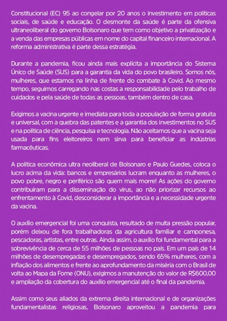 Manifesto Nacional 8M 2021-2