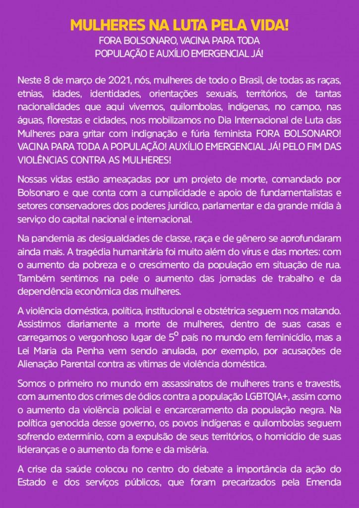 Manifesto Nacional 8M 2021